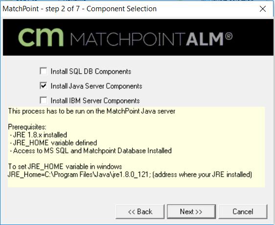 Topic: Java Server Components Installation