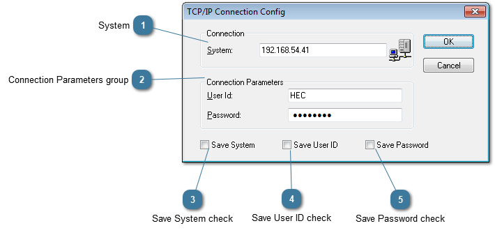 TCP/IP Connection Config